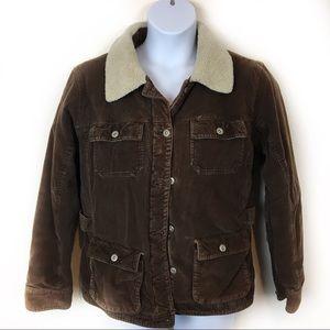 Columbia Corduroy, Fleece, Flannel Coat Size Large